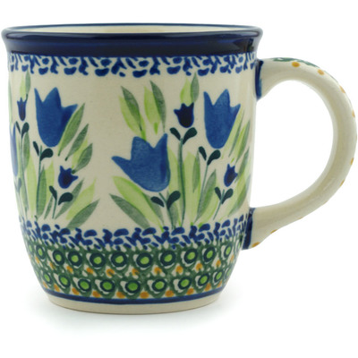 Polish Pottery Mug 12 oz Tulip Fields UNIKAT