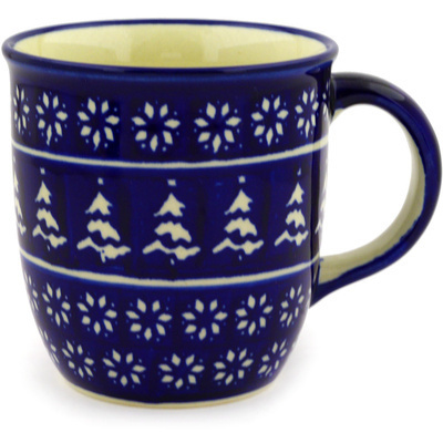 Polish Pottery Mug 12 oz Winter Night