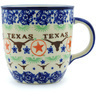 Polish Pottery Mug 16 oz Texas State