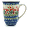 Polish Pottery Mug 17 oz Crimson Bells