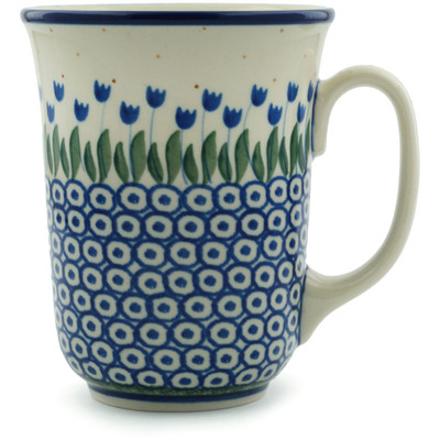 Polish Pottery Mug 17 oz Water Tulip
