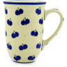 Polish Pottery Mug 17 oz Wild Blueberry