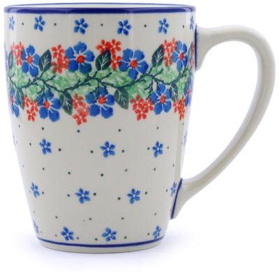 Polish Pottery Mug 22 oz Summer Wreath