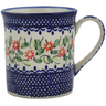 Polish Pottery Mug 8 oz Elegant Garland
