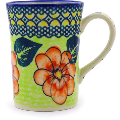 Polish Pottery Mug 8 oz Summer Poppies UNIKAT