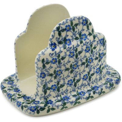 "Polish Pottery Napkin Holder 7"" Spring Vine"