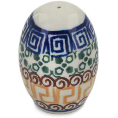 "Polish Pottery Pepper Shaker 2"" Mediterranean Sea"