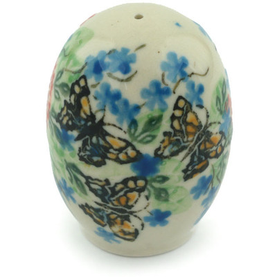 "Polish Pottery Pepper Shaker 2"" Monarch Garden UNIKAT"
