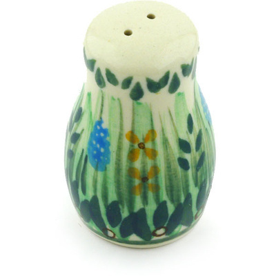 "Polish Pottery Pepper Shaker 2"" Prairie Land UNIKAT"
