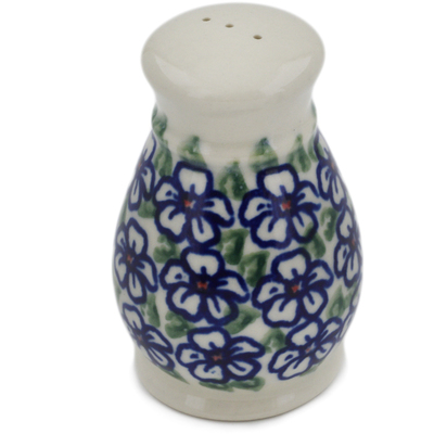 "Polish Pottery Pepper Shaker 3"" Flower Bouquet"