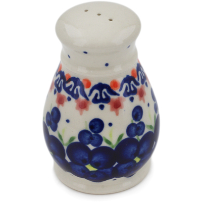 "Polish Pottery Pepper Shaker 3"" Passion Poppy"