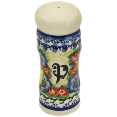 "Polish Pottery Pepper Shaker 5"" Mystical Garden UNIKAT"