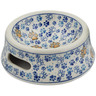 "Polish Pottery Pet Bowl 7"" Paws And Paws"