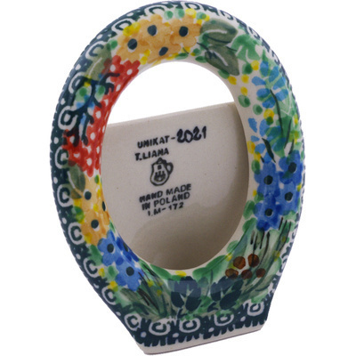 "Polish Pottery Picture Frame 4"" Garden Delight UNIKAT"
