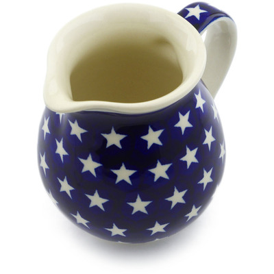 Polish Pottery Pitcher 15 oz America The Beautiful