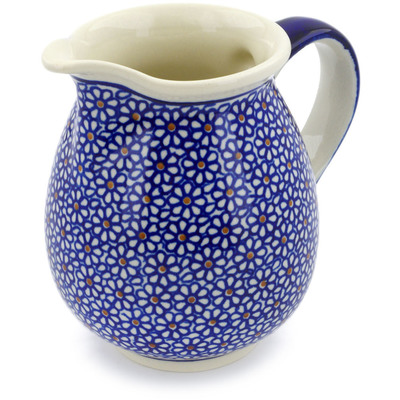 Polish Pottery Pitcher 28 oz Daisy Dreams