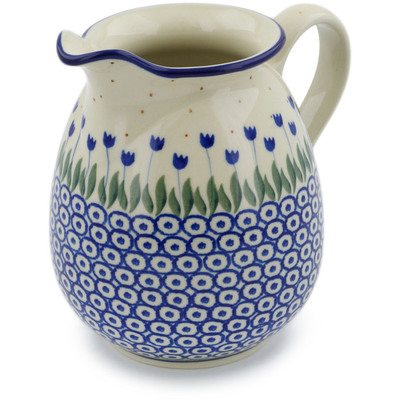 Polish Pottery Pitcher 3½ cups Water Tulip