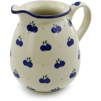 Polish Pottery Pitcher 3½ cups Wild Blueberry