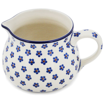 Polish Pottery Pitcher 50 oz Daisy Dots