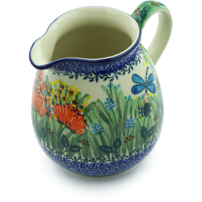 Polish Pottery Pitcher 6 Cup Dragonfly Bounty UNIKAT