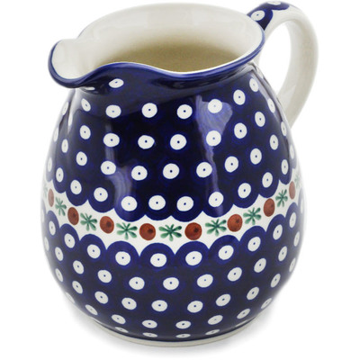 Polish Pottery Pitcher 6 Cup Mosquito