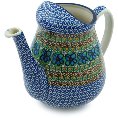 Polish Pottery Pitcher 71 oz Mardi Gra UNIKAT
