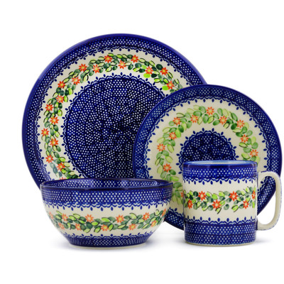 "Polish Pottery Place Setting 10"" Elegant Garland"