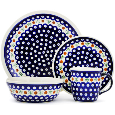 "Polish Pottery Place Setting 11"" Mosquito"