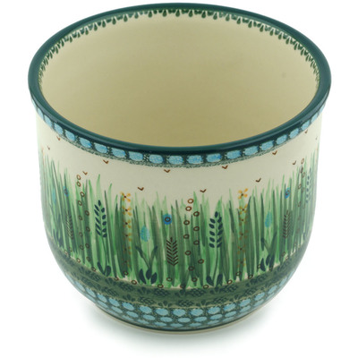 "Polish Pottery Planter 8"" Prairie Land UNIKAT"