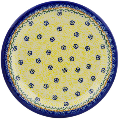 "Polish Pottery Plate 10"" Bumble Fields"