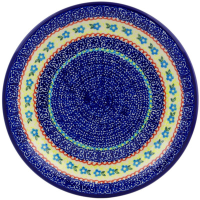 "Polish Pottery Plate 10"" Flower Sea"