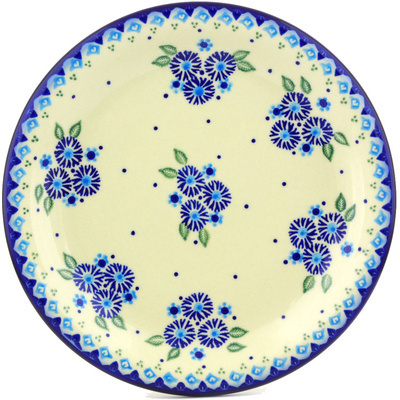 "Polish Pottery Plate 11"" Aster Patches"