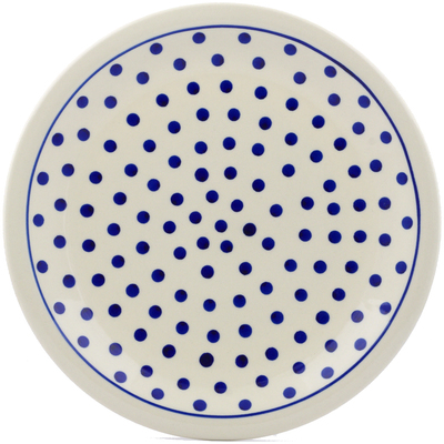 "Polish Pottery Plate 11"" Polka Dot"