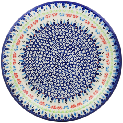 "Polish Pottery Plate 11"" Spring Flowers"