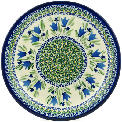 "Polish Pottery Plate 11"" Tulip Fields UNIKAT"
