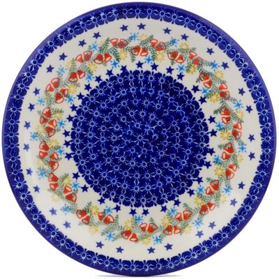 "Polish Pottery Plate 11"" Wreath Of Bealls"