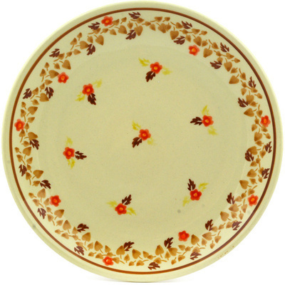 "Polish Pottery Plate 7"" Autumn Vines"