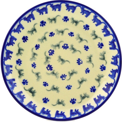 "Polish Pottery Plate 7"" Boo Boo Kitty Paws"