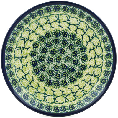 "Polish Pottery Plate 7"" Emerald Forest"