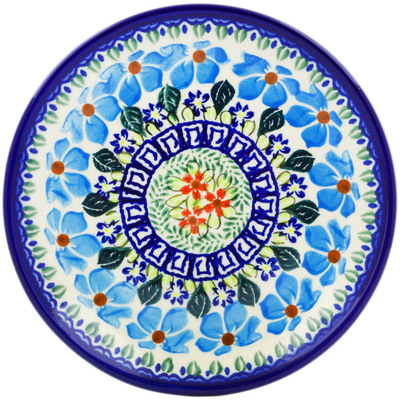 "Polish Pottery Plate 7"" Pansy Morning"