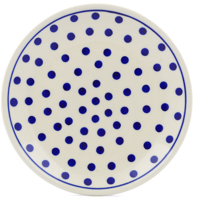 "Polish Pottery Plate 7"" Polka Dot"