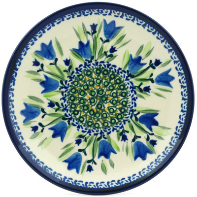 "Polish Pottery Plate 7"" Tulip Fields UNIKAT"