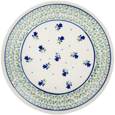 "Polish Pottery Plate 7"" Violet Tulips"