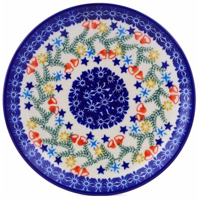 "Polish Pottery Plate 7"" Wreath Of Bealls"