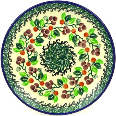"Polish Pottery Plate 8"" Berry Garland"