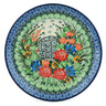 "Polish Pottery Plate 8"" Garden Dreams UNIKAT"