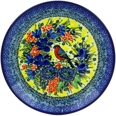 "Polish Pottery Plate 8"" Morning Song UNIKAT"