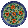 "Polish Pottery Plate 8"" Sunflower Festival UNIKAT"