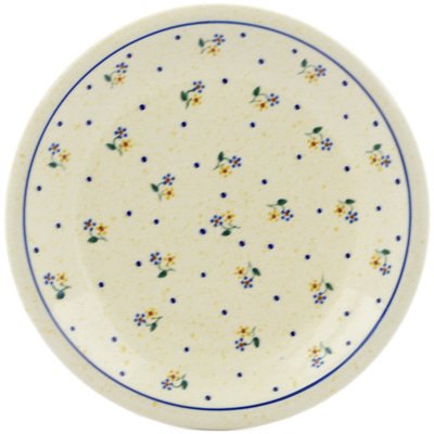"Polish Pottery Plate 9"" Country Meadow"