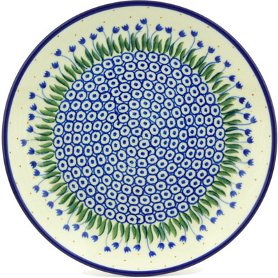 "Polish Pottery Plate 9"" Water Tulip"